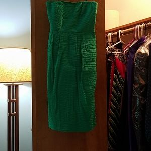 Kelly green J Crew dress